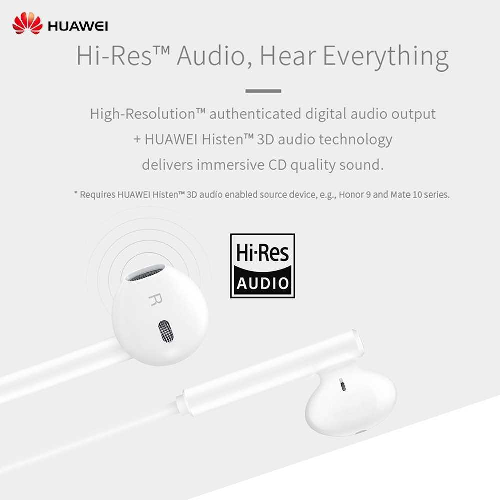 Great Discount HUAWEI CM33 Classic Earphones (USB-C Edition) Half In-ear Corded Headset Handsfree Hi-Res High-Resolutio