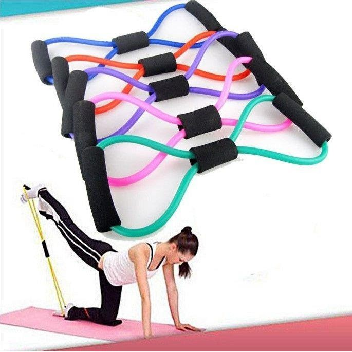 (Ready Stock)Yoga Resistance Training Bands Tube Workout Exercise Body Stretch