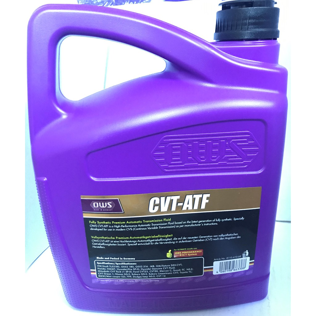 Cvt Transmission Fluid Vs Atf