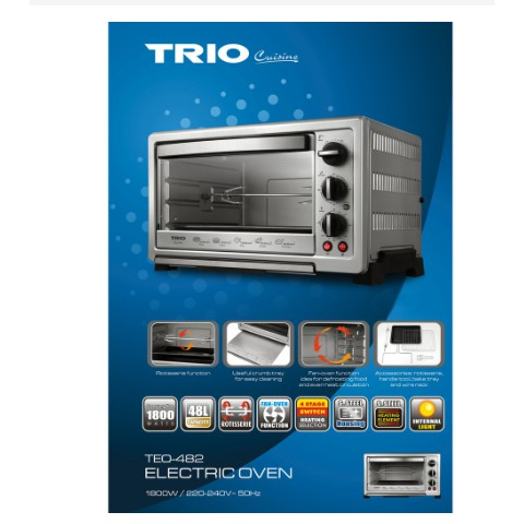 TRIO Electric Oven (48L) TEO-482