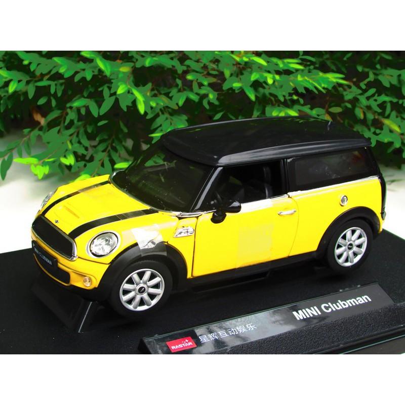 Rastar 124 Diecast Car Mini Cooper Clubman 2009 Yellowred