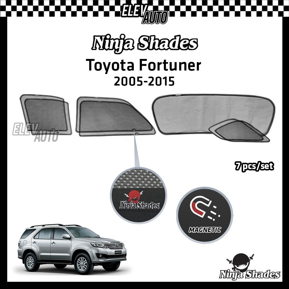 Toyota Fortuner 2005-2015 Ninja Shades  Premium Magnetic Sunshade