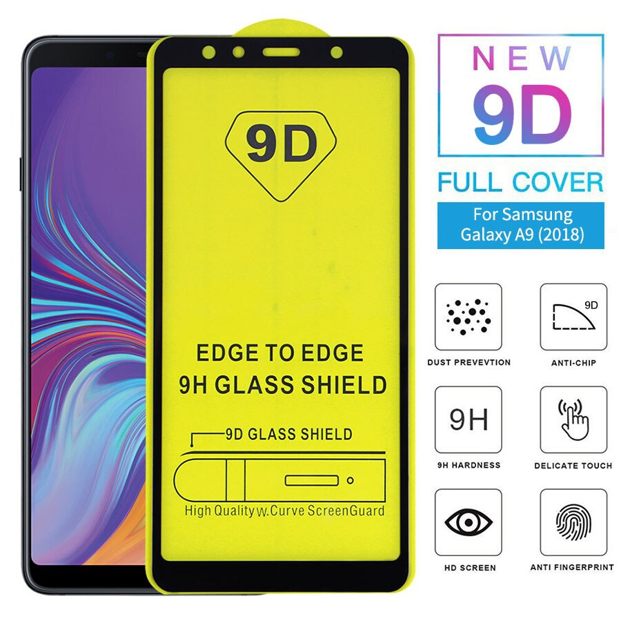 (Full) Samsung J4 PLUS J6 J6 PLUS A6 A9 2018 Full Tempered Glass Screen Protection 5D 手机防爆膜