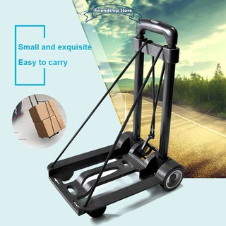 a838c7a41db9 Folding Compact Lightweight Luggage Cart Portable Travel Trolley ...