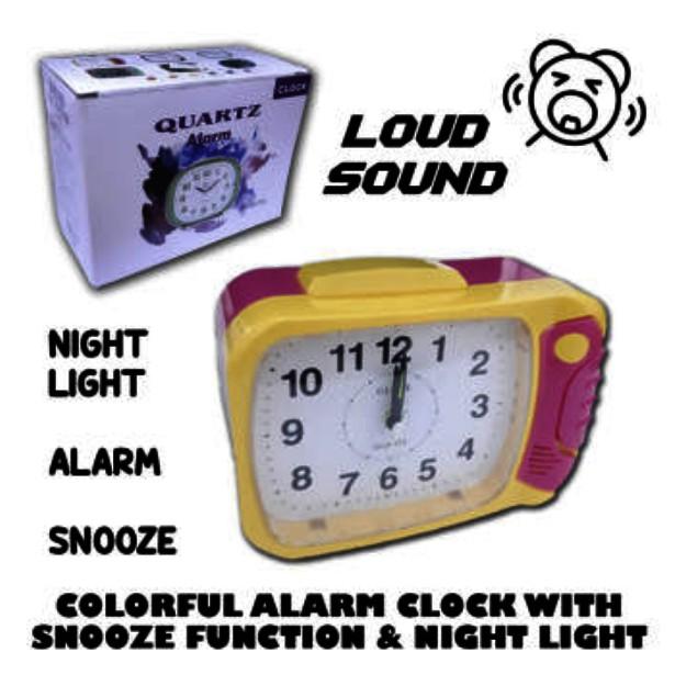 Globe Loud Sound Alarm Clock With Night Light BH 105W