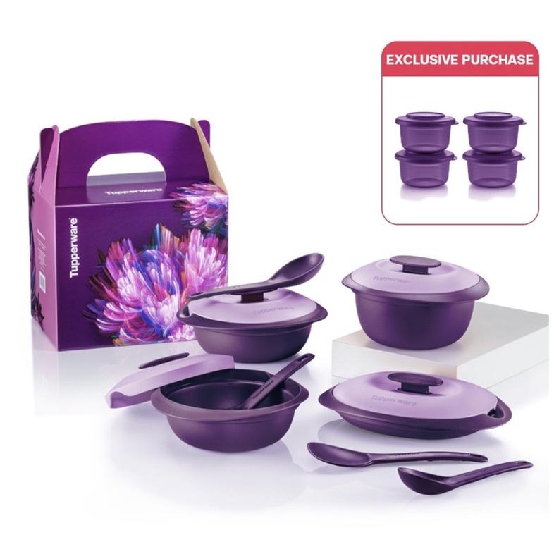 Tupperware Purple Royale Petit Serveware Set