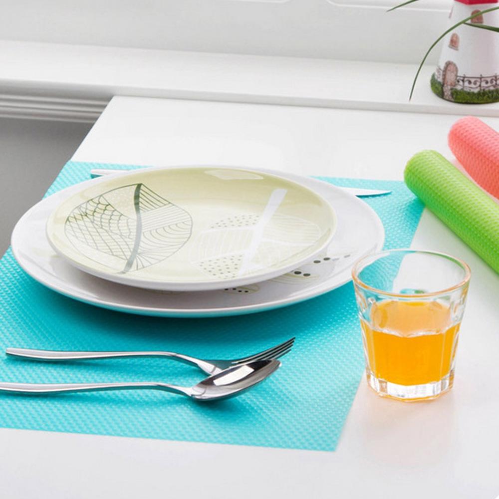 4pcs Refrigerator Fridge Mats Washable Liners Kitchen Waterproof EVA 45*29cm