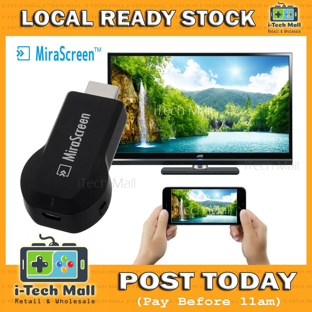 Free Delivery | Original MiraScreen Phone to TV Screen Mirroring Wireless  Display Airplay Miracast Chromecast
