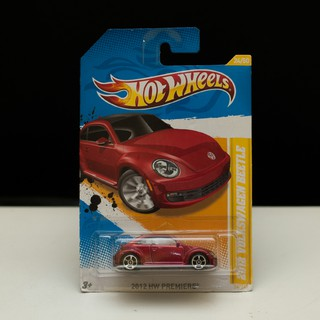 2012 NEW MODELS HOT WHEELS 1:64 VOLKSWAGEN BEETLE RED