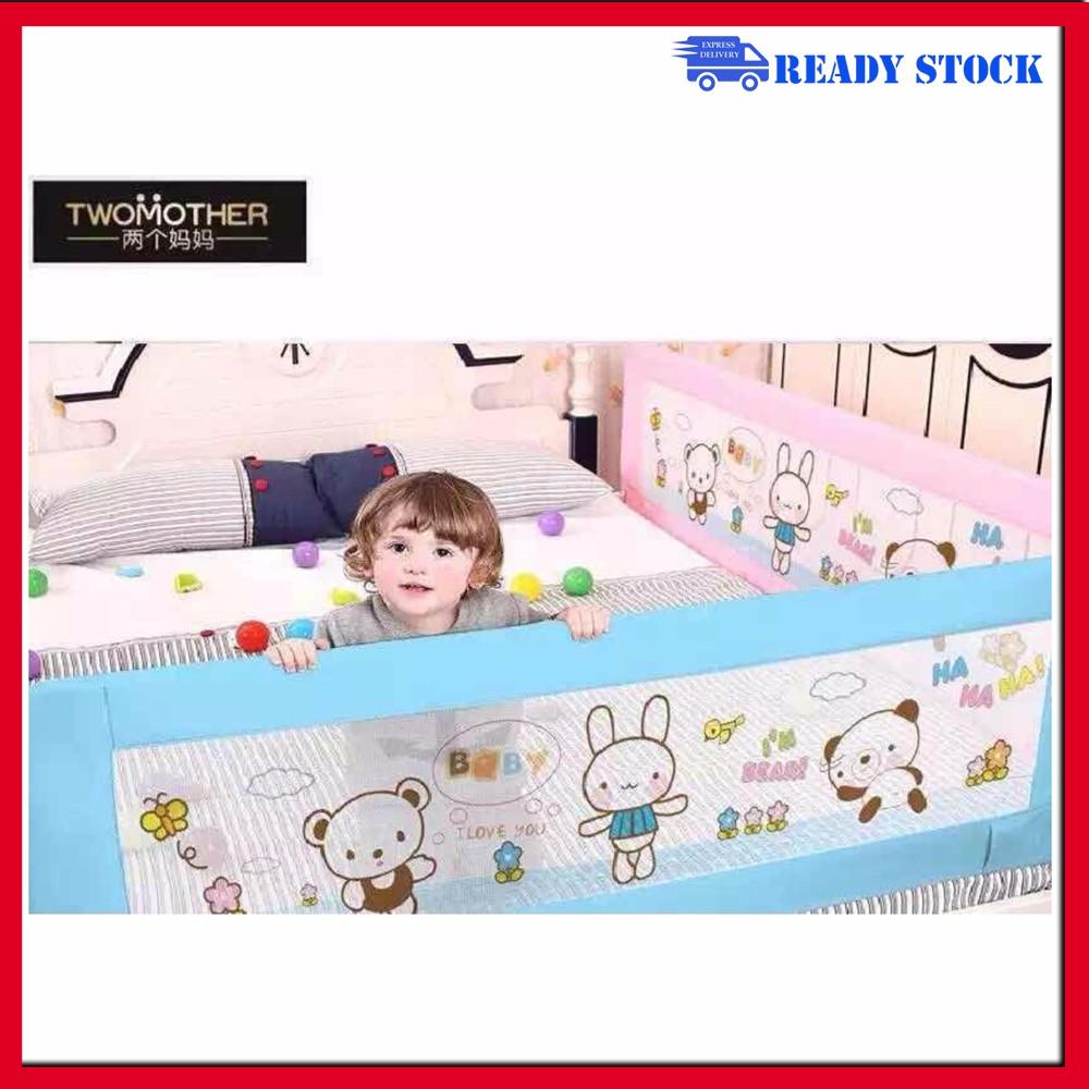 Kids Bed Guard Toddler Safety Children Side Barrier Folding Rail 180*60cm
