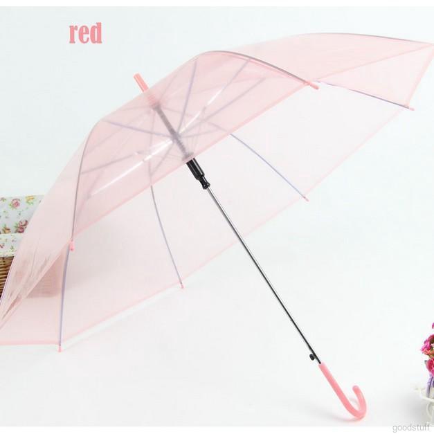 5b38d39e9 Transparent Clear Rain Umbrella Parasol Pvc Dome Fashion | Shopee Malaysia