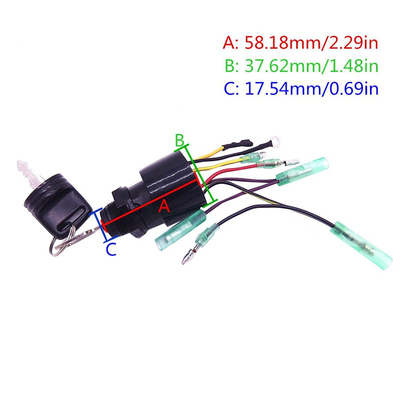 Boat Motor Ignition Key Switch For, Mercury Outboard Wiring Diagram Ignition Switch