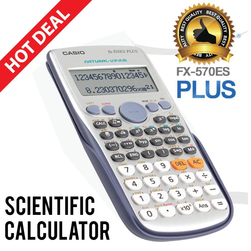 Casio Scientific Calculator Fx 570es Plus Oem Shopee Malaysia