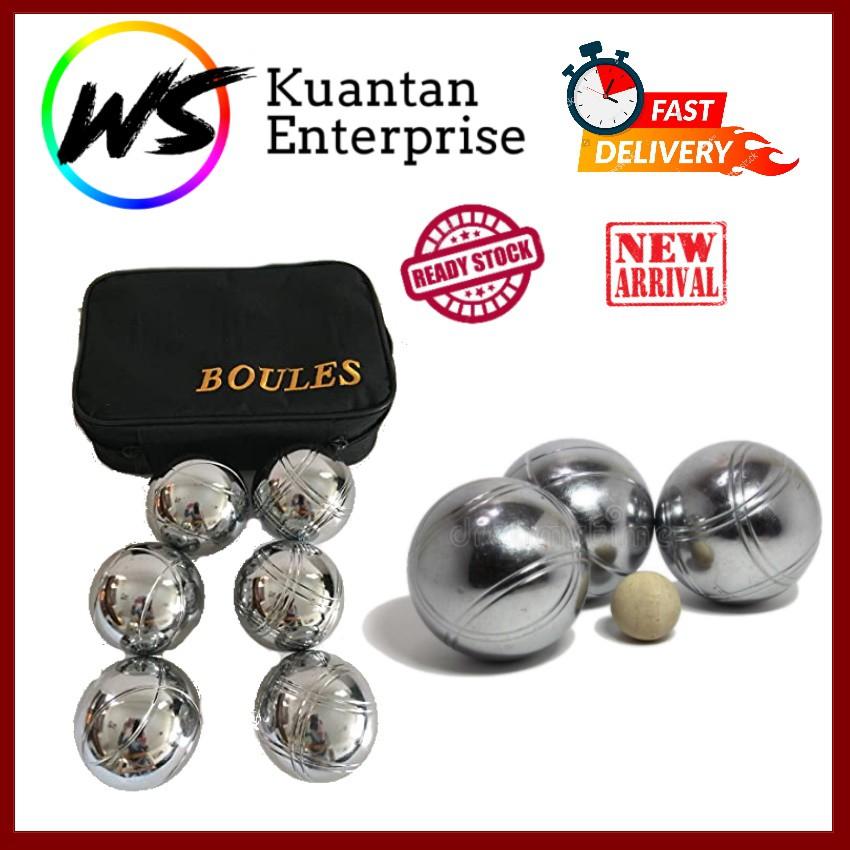 【100% Ready Stock】Boules Metal Petanque Ball (Free Hand Carry Bag)