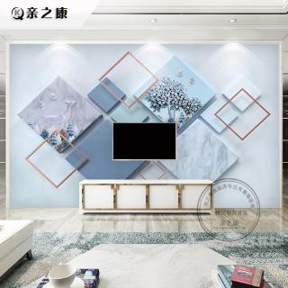 Wall Mural 3D Wallpaper Blue Wood Simple Modern Wall Paper ...