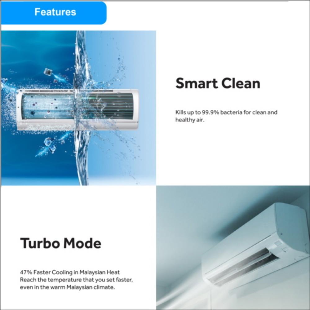 Haier (2.0) Air-cond Smart Clean Expert Inverter Air conditioner HSU-18VFD18