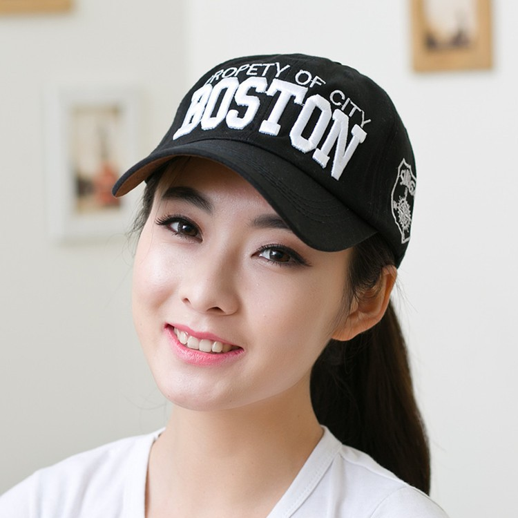 Fashion Boston Cap Cotton Bone Embroidery Baseball hat Mens Woman Snapback Outdoor Sun Hats