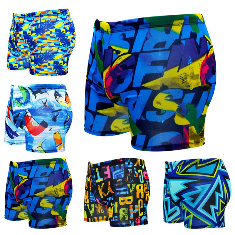 6cb716ddf8e75 Men's swimming trunks, flat angle, XL beach pants, fashion men's swimwear |  Shopee Malaysia