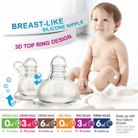 Ready Stock PUKU PPSU WIDE NECK FEEDING Milk BOTTLE 140ML 母乳實感寬口奶瓶 P10817