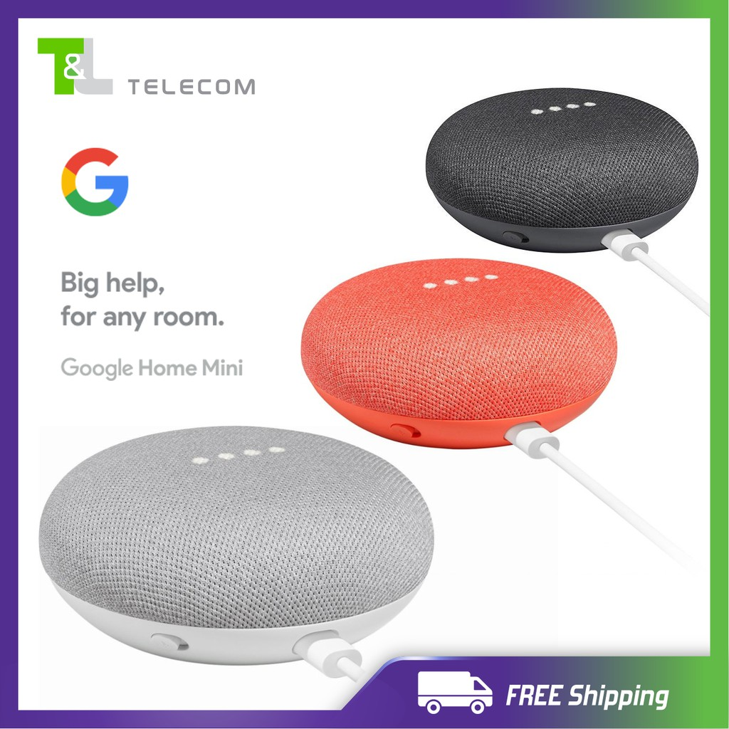 Google Home Mini - Smart Speaker by Google + FREE 3 PIN Adapter / FREE  Shipping