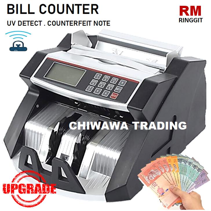 Money Counter Bank Notes Cash Worldwide Currency Bill Counting Machine Fake Ringgit Detector UV Sensor Mesin Kira Wang