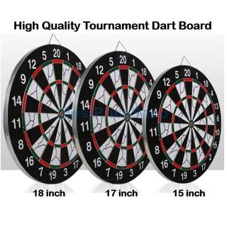 15 inch Dual Sides Professional Tournament Dartboard Dart