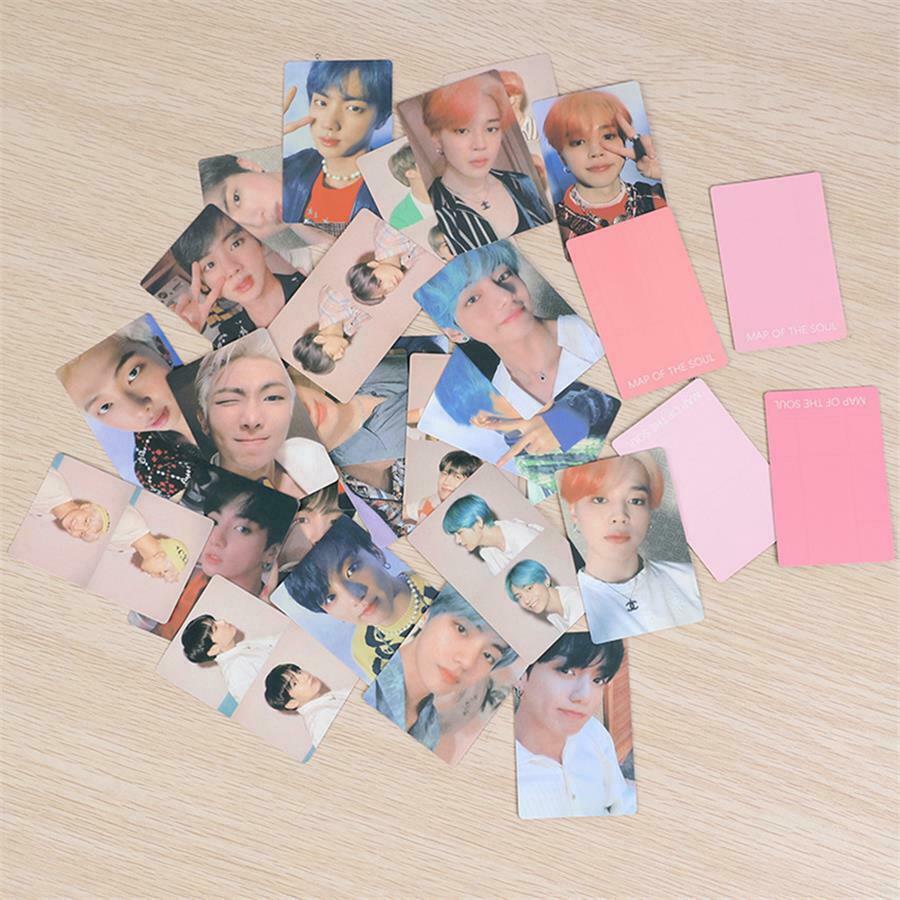 4pcs/set KPOP BTS Members Paper Photo Cards Map of The Soul: Persona  Collective Cards