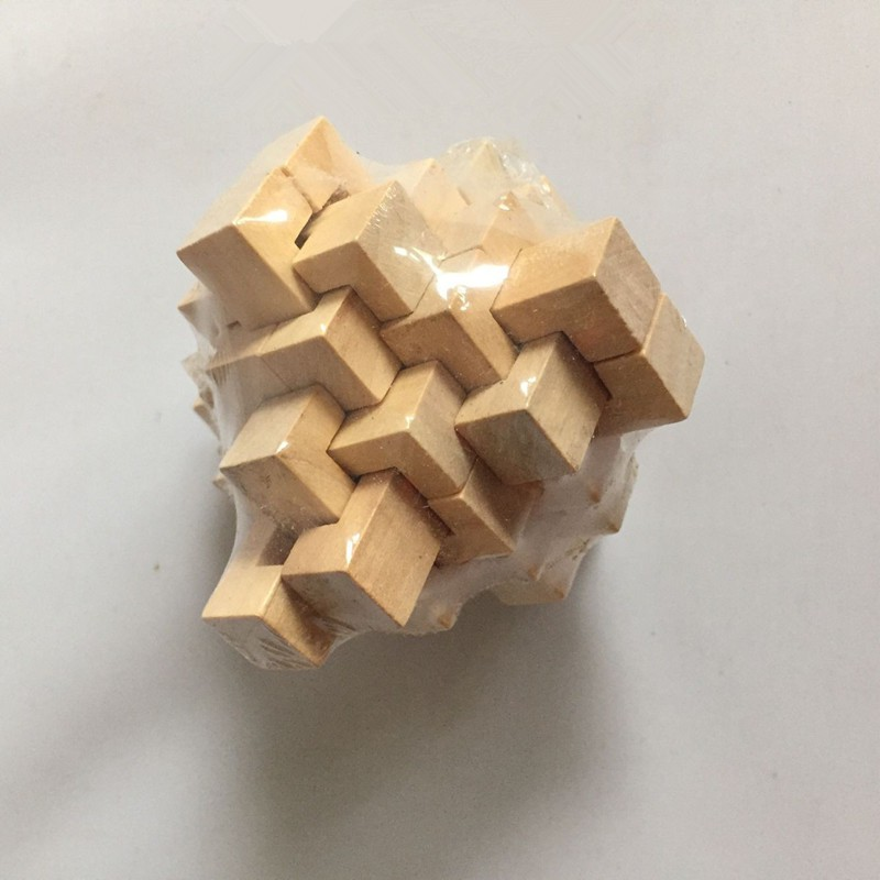 IQ Wooden Puzzle Mind Brain Teasers Burr Game Toy