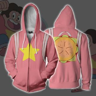 Steven Universe Quartz Cosplay Baseball Hoodie Unisex T Shirt Halloween Costume