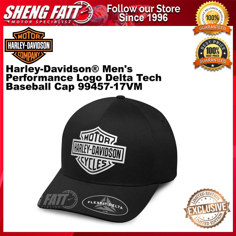 Harley-Davidson® Men's Performance Logo Delta Tech Baseball Cap 99457-17VM