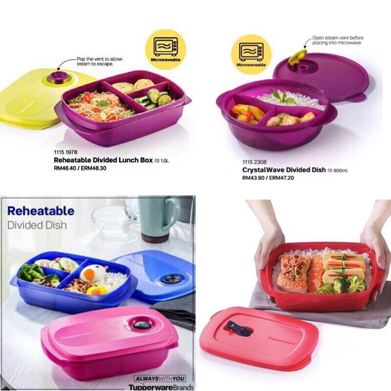 Tupperware Crystalwave Lunch Box 600ml/800ml/900ml/1000ml/1200ml