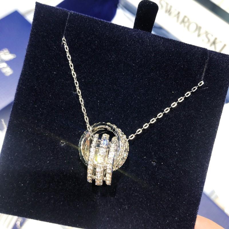 dab3b7600 APM Monaco Silver Double Meteor Necklace Female Clavicle Chain Sweater Chain  | Shopee Malaysia