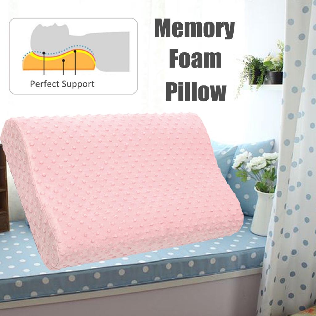 Memory Foam Pillow Cervical Contour Pillow Gel Particle Slow Rebound Ergonomic