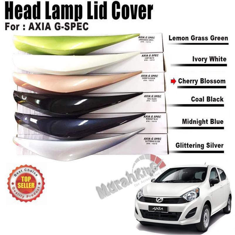 Perodua Axia G Spec Custom Fit ABS Car Headlamp Eyelid (Cherry Blossom)
