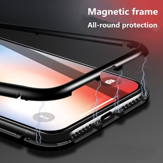 free shipping! Samsung Galaxy s9plus/note8 case Magnetic Metal Bumper tempered glass phone case | Shopee Malaysia