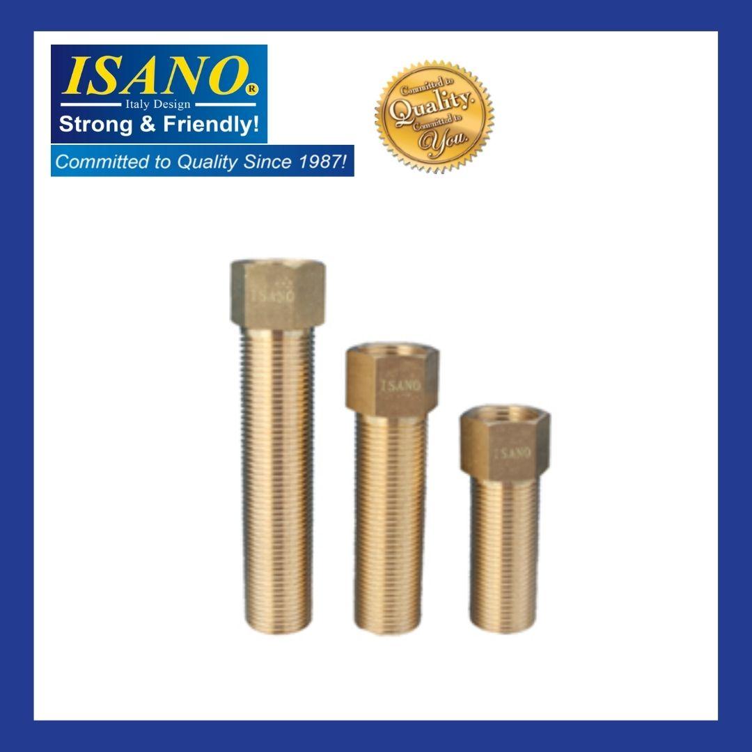 "Brass Hexagon Extension pipe copper Socket 1/2"" x 35mm 50mm 70mm 95mm 1435HE / 1450HE / 1470HE / 1495HE"