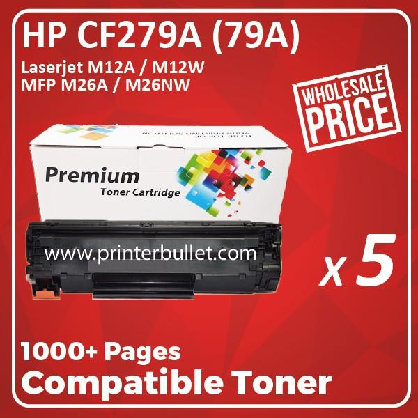5 unit HP 79A / CF279A / CF279 / 279A Compatible Toner Cartridge