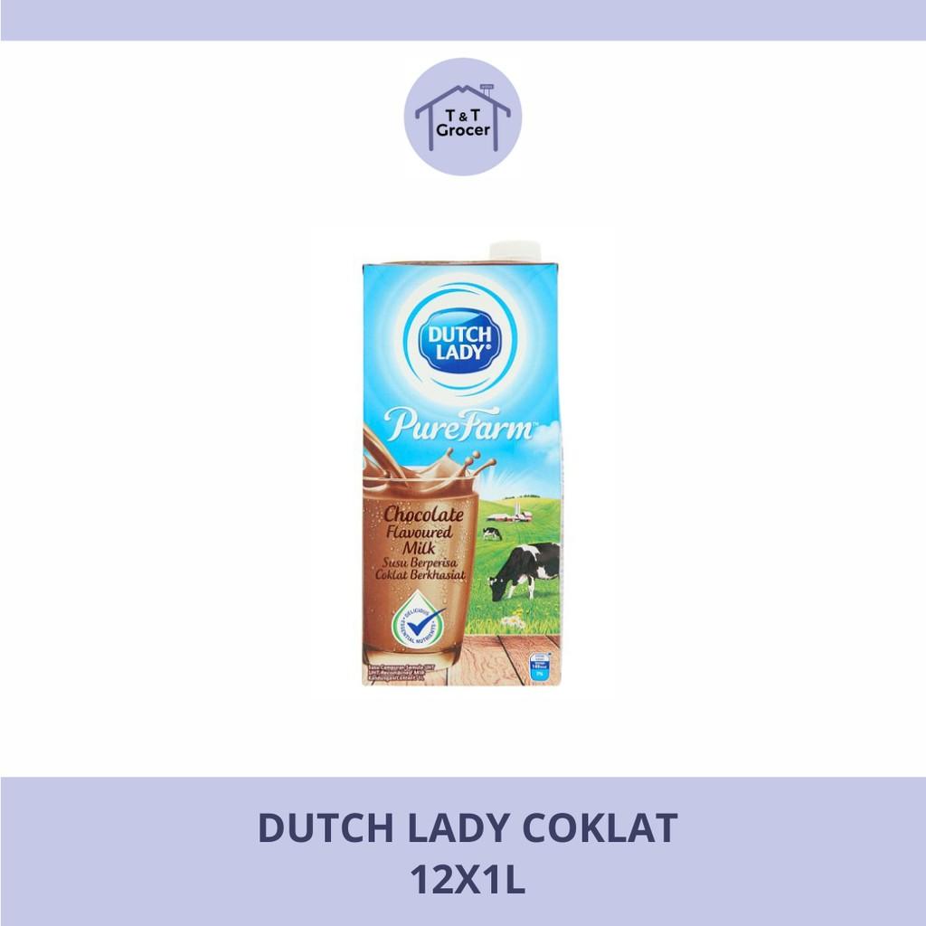 Dutch Lady 12x1l (Coklat/ Full Krim/ Strawberri)