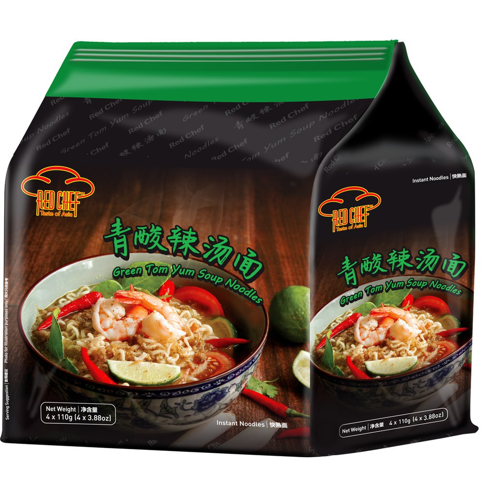 RED CHEF - Sakura Prawn / White Curry / Tom Yum (4 Packs)  ***Fresh & New & Ready Stocks***