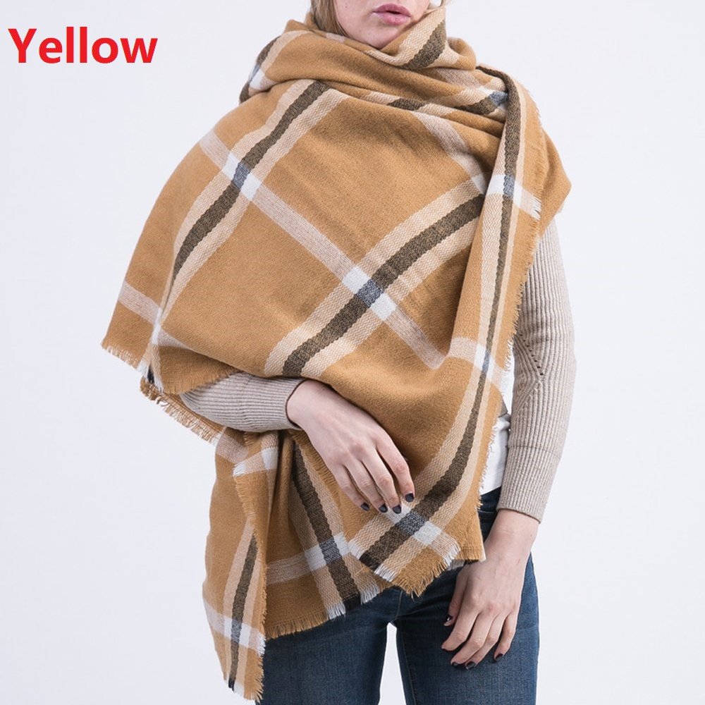 aspetto elegante meglio in uso durevole Plaid Scarfs for Women Long Shawl Big Grid Winter Warm Lattice Large Scarf  Gifts