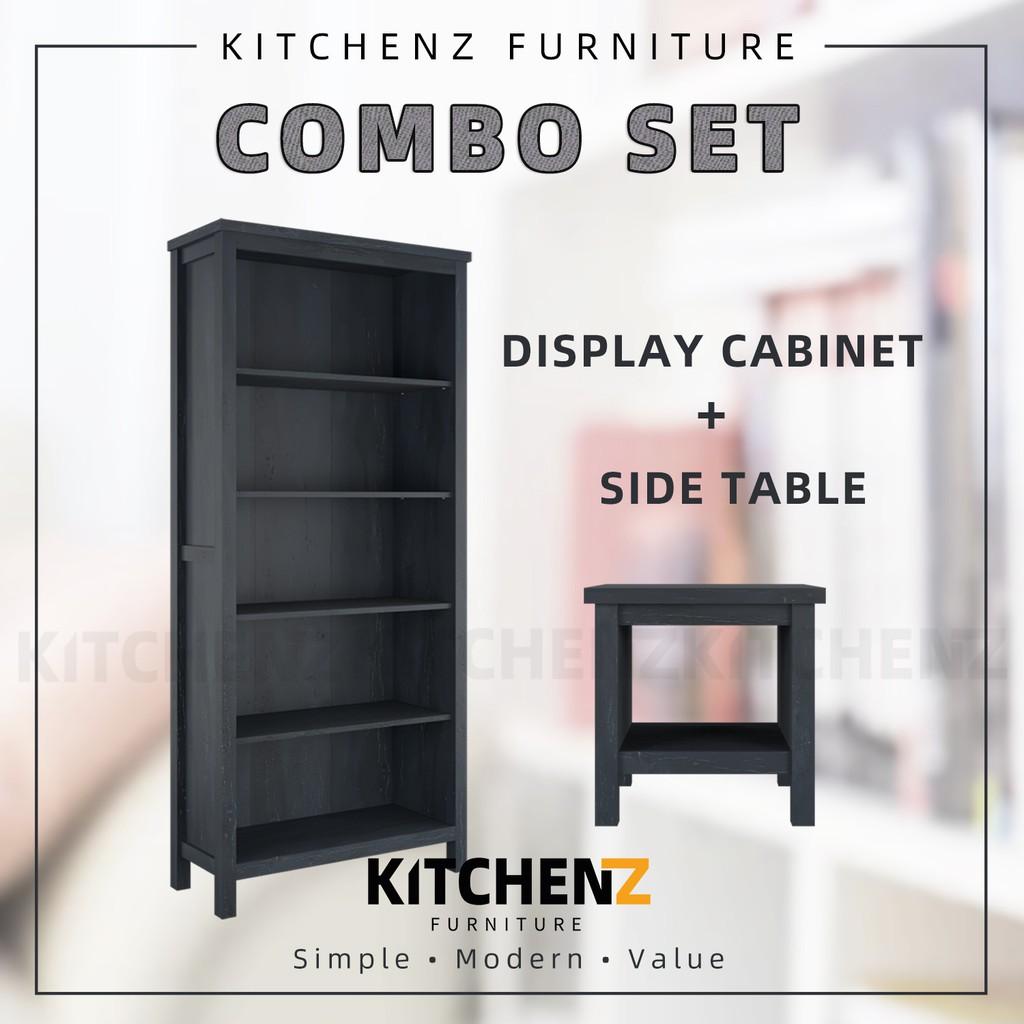 [COMBO] Kitchenz 3FT Akara Series Display Cabinet + 1.5FT Akara Series Side Table