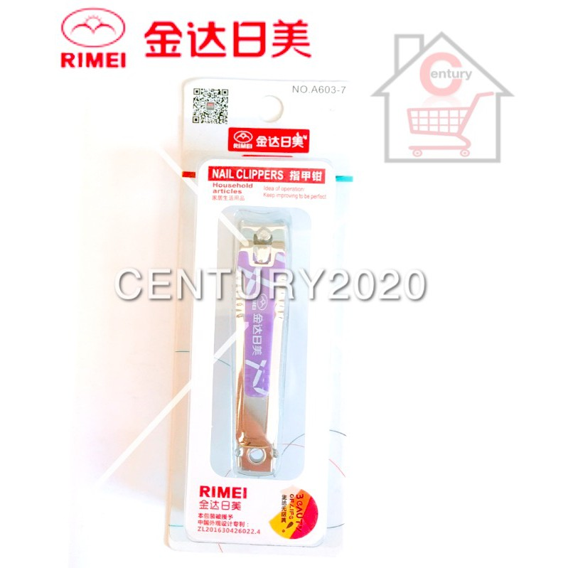 RIMEI Nail Clipper Manicure Care Nail Cutter High Grade Stainless Steel Nail Cutter A603-7