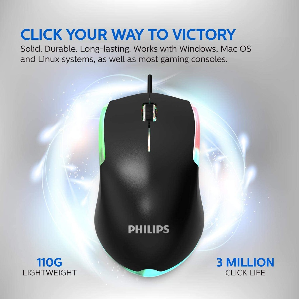 Philips G264 SPT8264 Wired USB Keyboard & Mouse Combo Set
