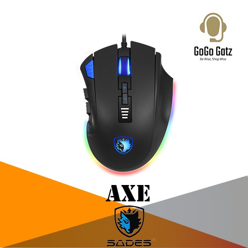 {SD-AXE-RGB} Sades Axe RGB PMW 3325 12 Button Gaming Mouse (RGB)