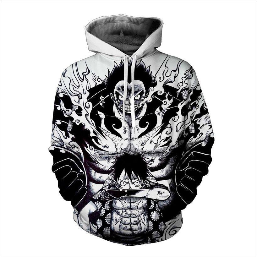 Japanese Anime One Piece 3D Hoodie Sweatshirt Hooded Pullover Cosplay Sweater