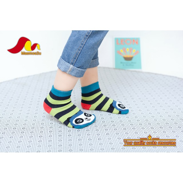 4 PAIRS COTTON ANTI SLIP KIDS SOCKS 3 - 4 YEARS OLD