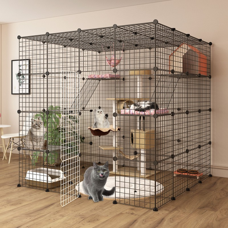 Cat Cage Home Villa Extra Large Free Space Indoor Cat House Cat House Large Size With Toilet Cat Cat Litter Shopee Malaysia