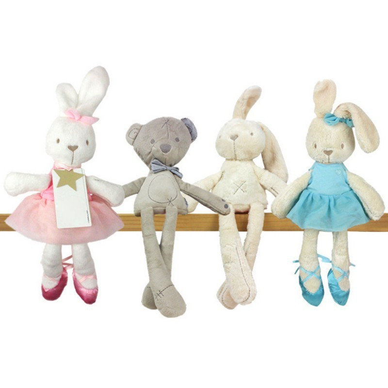 2a19c2a5b331 New Lovely Simulation Animal Doll Rabbit Plush Sleeping Stuffed Toy ...