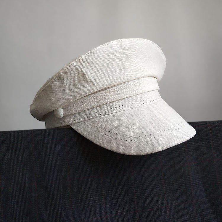 9dc77a39a women hathot sellerhat❁●﹍Berets female leisure baseball cap British navy  wind white hat flat sailor newsboy spring, s