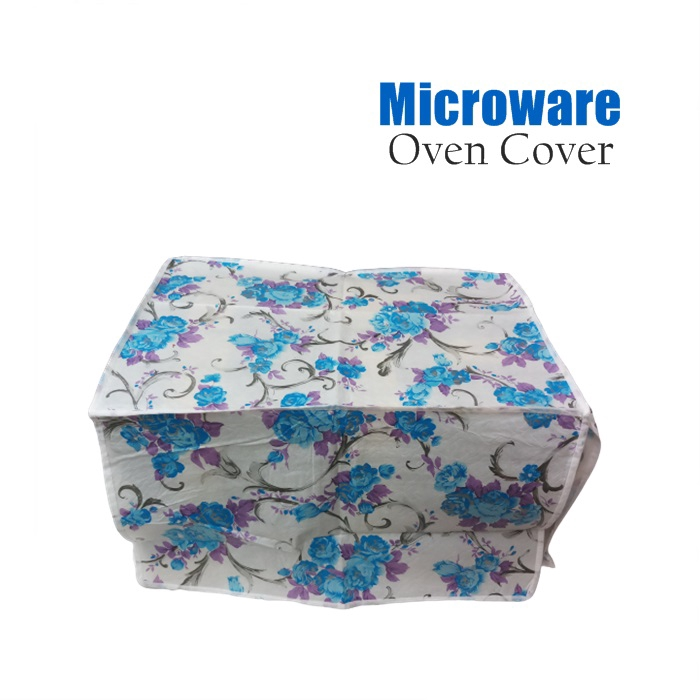 MALAYSIA: PENUTUP COVER MICROWAVE OVEN / Flower Microwave Oven Protective Cover Dust proof